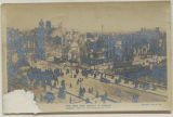 The Sinn Fein Revolt in Dublin. General View of the Devastated City (postcard)