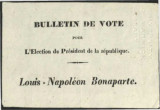 Bulletin de Vote : Louis-Napoléon Bonaparte