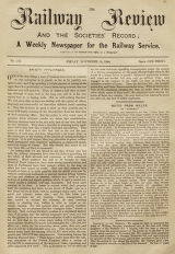The Railway Review : a weekly newspaper of the railway service