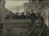 Bolshevik leaders at the Lenin Mausoleum (photograph)