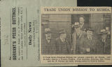 Trade union mission to Russia (press cutting)