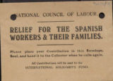 Relief for Spanish workers & their families (charity envelope)