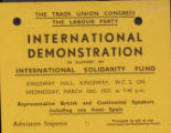 International demonstration in support of International Solidarity Fund (ticket)