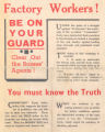Factory Workers! Be on your guard (leaflet)