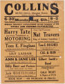 Collins Music Hall, Islington Green (playbill)